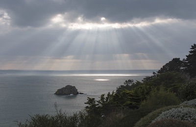 Photo - winter light on the bay of Lannion