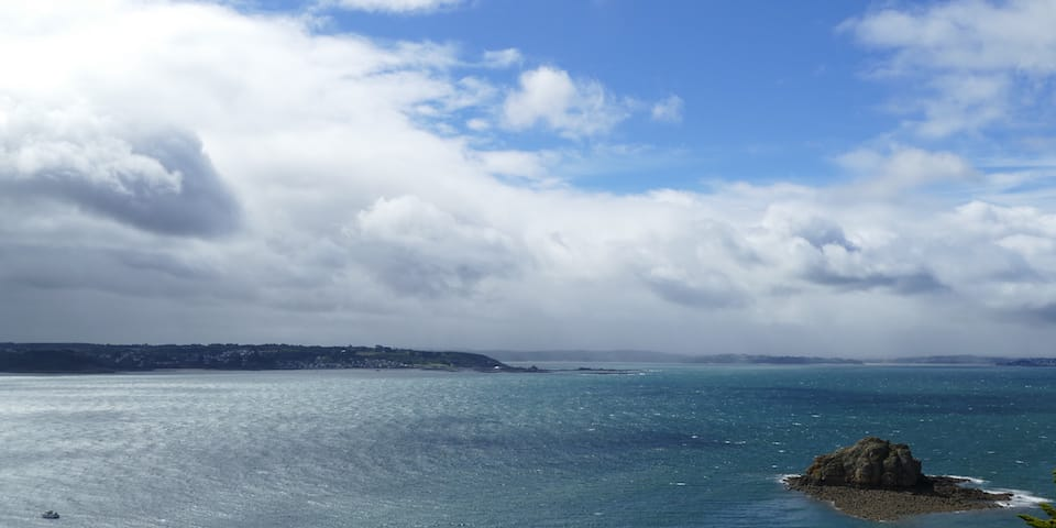 Changeable weather over the Bay of Lannion