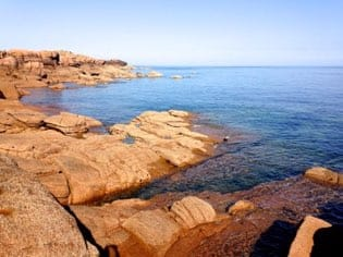 Typical pink granite of the coast
